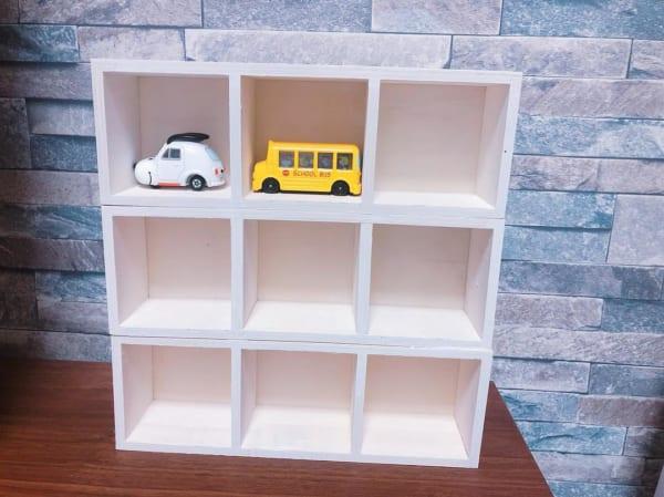 セリア 木製パーテーションボックス DIY