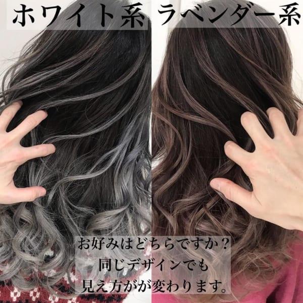 黒髪×ハイライト2