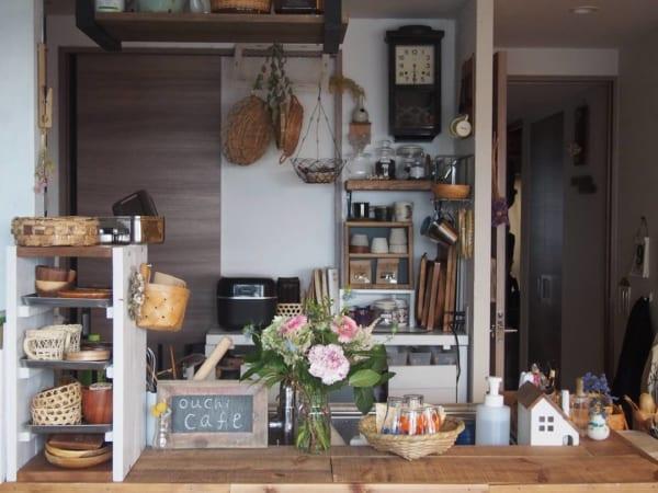 お花×ナチュラルインテリア カフェ風