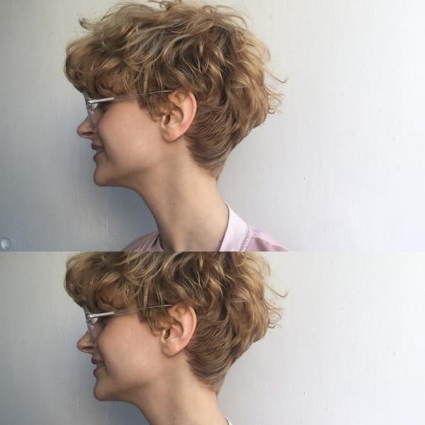 かっこいいジェンダーレスな髪型⑤パーマヘア4