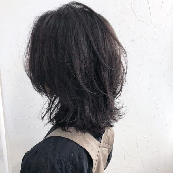 アラフィフに人気の髪型 ミディアム7
