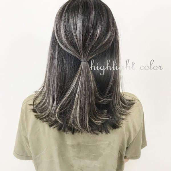 黒髪×ハイライト22