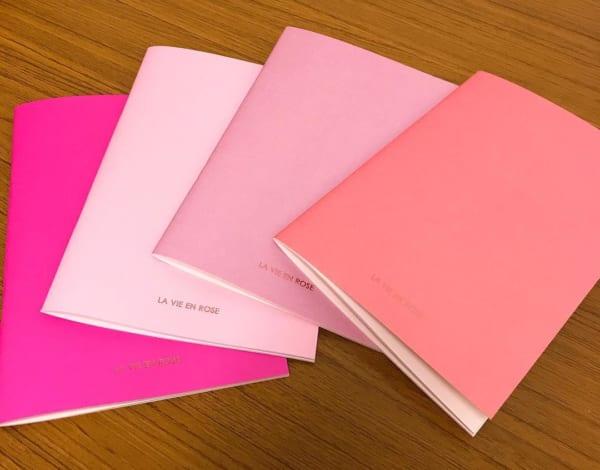 セリア新商品 ピンク ノート ロゼシリーズ2