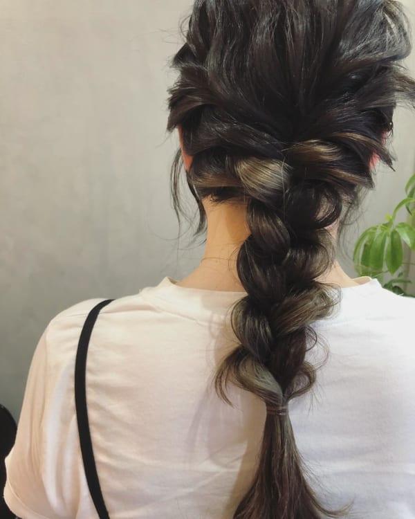 黒髪×ハイライト25