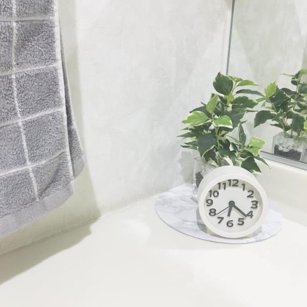 ダイソー 時計 洗面所