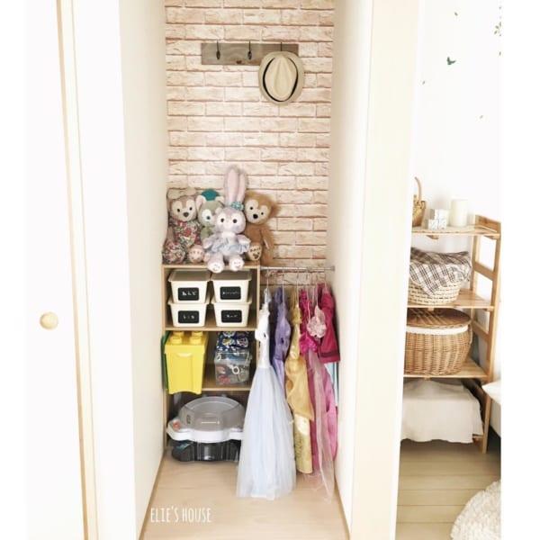 女の子の子供部屋インテリア 収納4