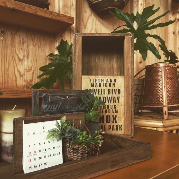木製のかっこいいDIYゴミ箱1
