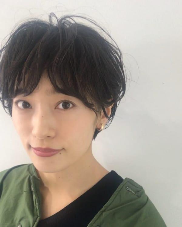 くせ毛ショート 前髪2