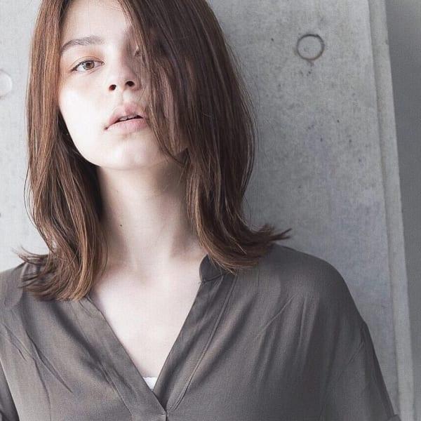 かっこいいジェンダーレスな髪型②ミディアムヘア