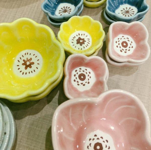 セリアの花型お皿