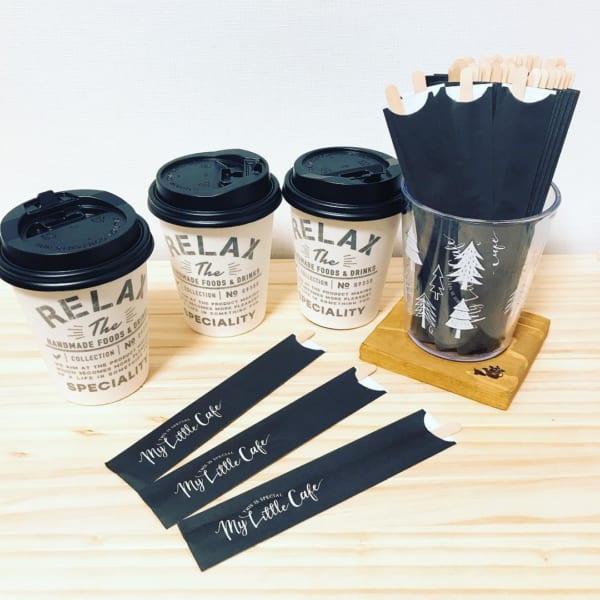 耐熱ペーパーカップ&木製コーヒーマドラー