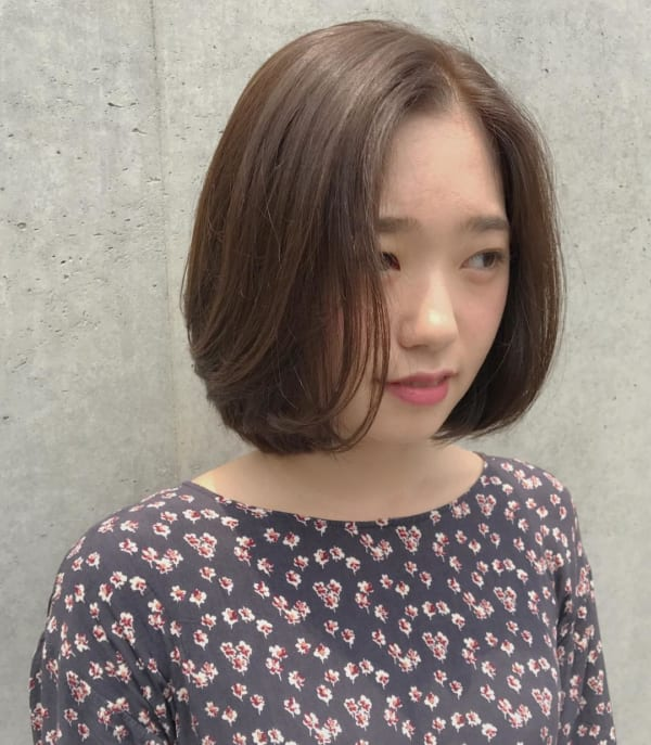 ミセス 髪型 丸顔2