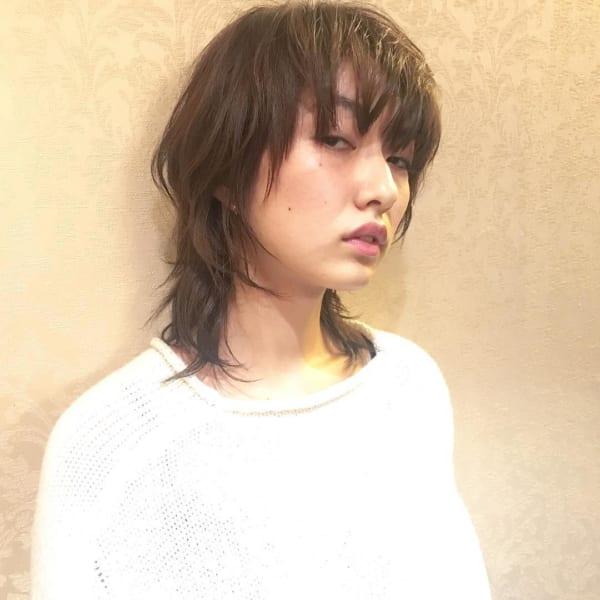 かっこいいジェンダーレスな髪型②ミディアムヘア3