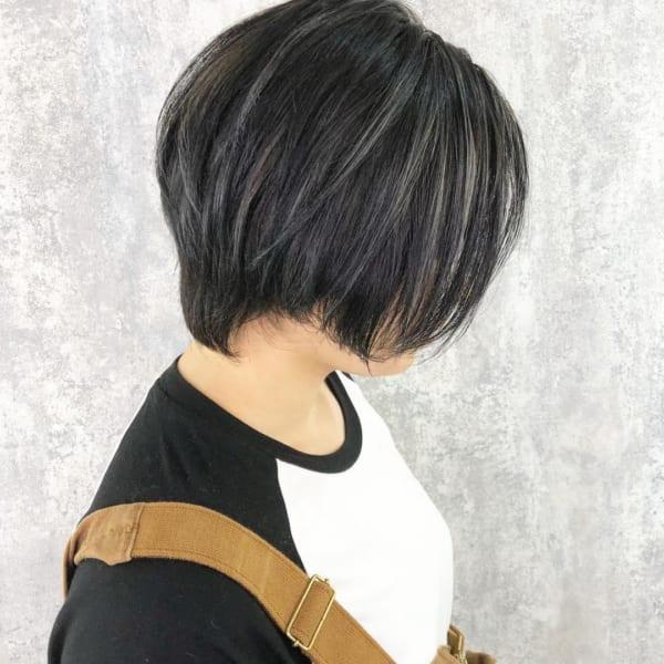 黒髪×ハイライト9