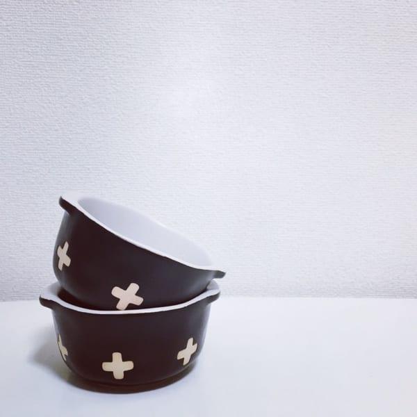 セリア クロス柄浅鉢