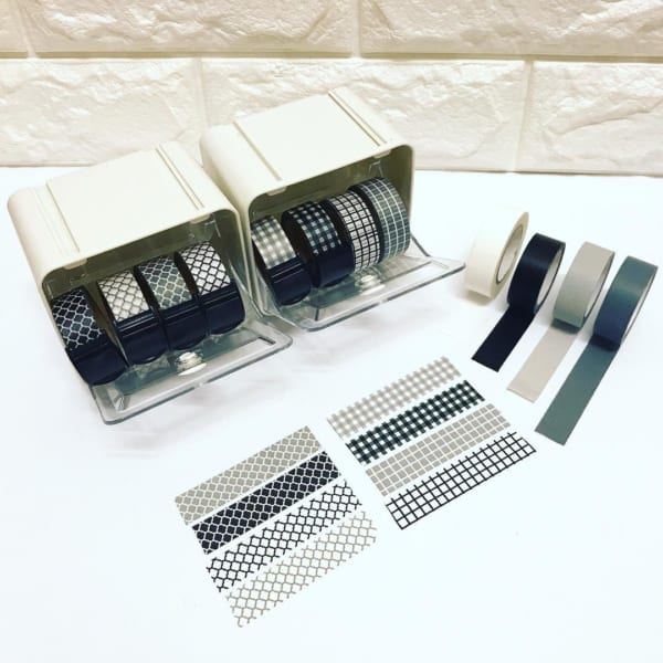 セリア モノトーンのマスキングテープ