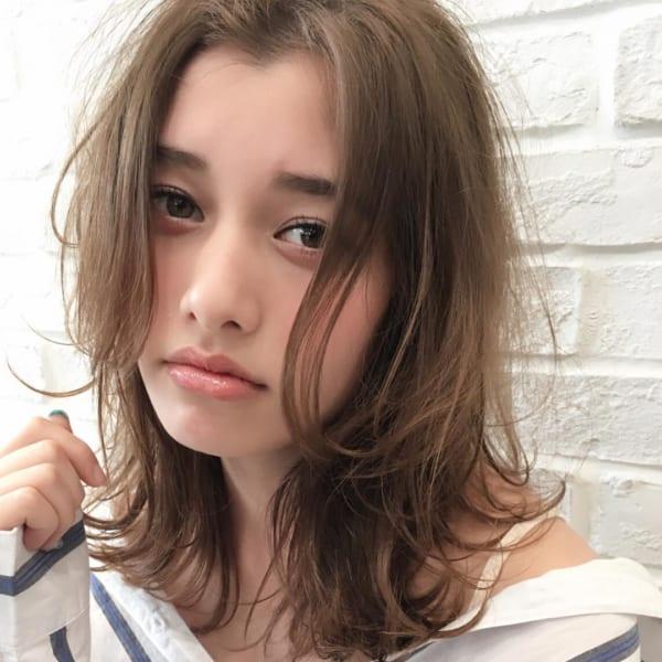 かっこいいジェンダーレスな髪型②ミディアムヘア4