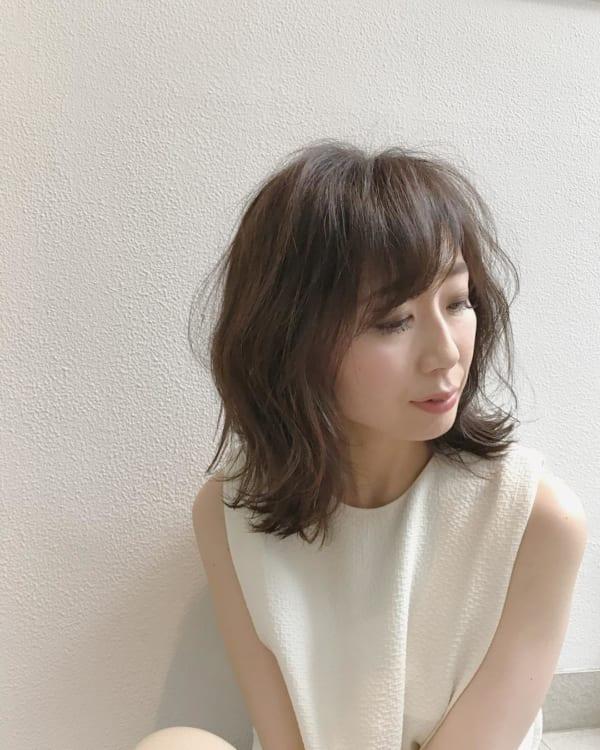 ミセス 髪型 面長