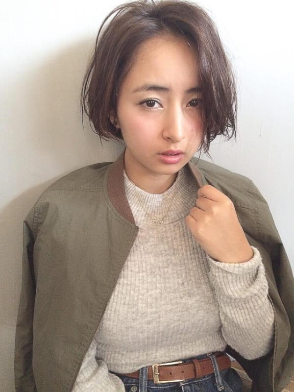 ぽっちゃりさんに似合う髪型①ショート4