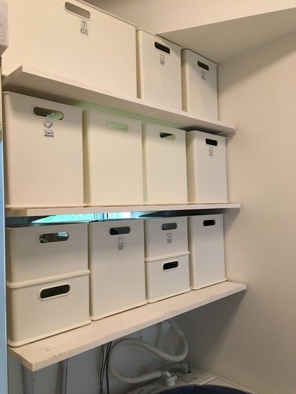 DIYで収納棚を作って工夫した例1