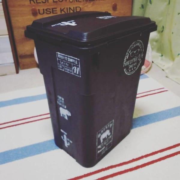 DIYでペイントしたおしゃれなキッチン用ゴミ箱1