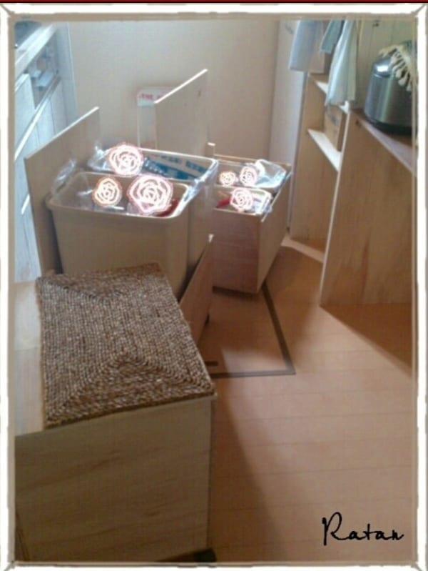 スライド式DIYゴミ箱収納1