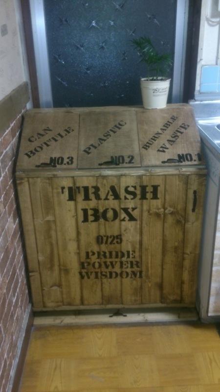ゴミを入れやすい斜め口DIYゴミ箱2