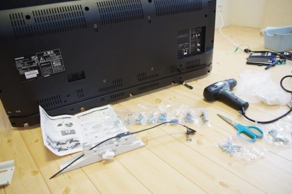 壁掛けテレビの配線を隠す方法10