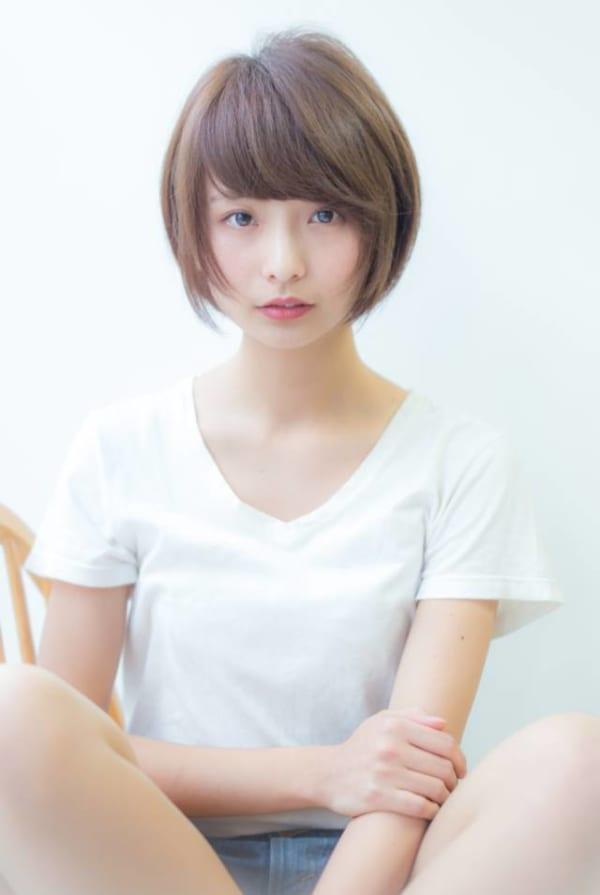 ぽっちゃりさんに似合う髪型①ショート3