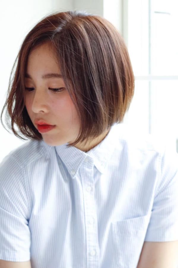 ぽっちゃりさんに似合う髪型①ショート9
