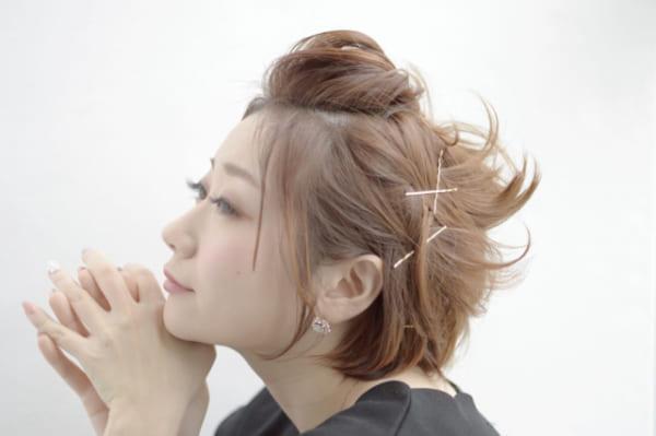 ぽっちゃりさんが似合う髪型⑩前髪アレンジヘアスタイル2