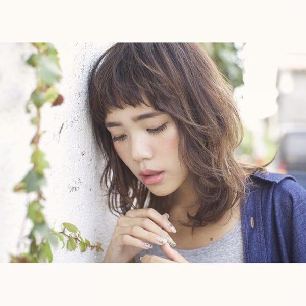 ぽっちゃりさんに似合う髪型③ミディアム2