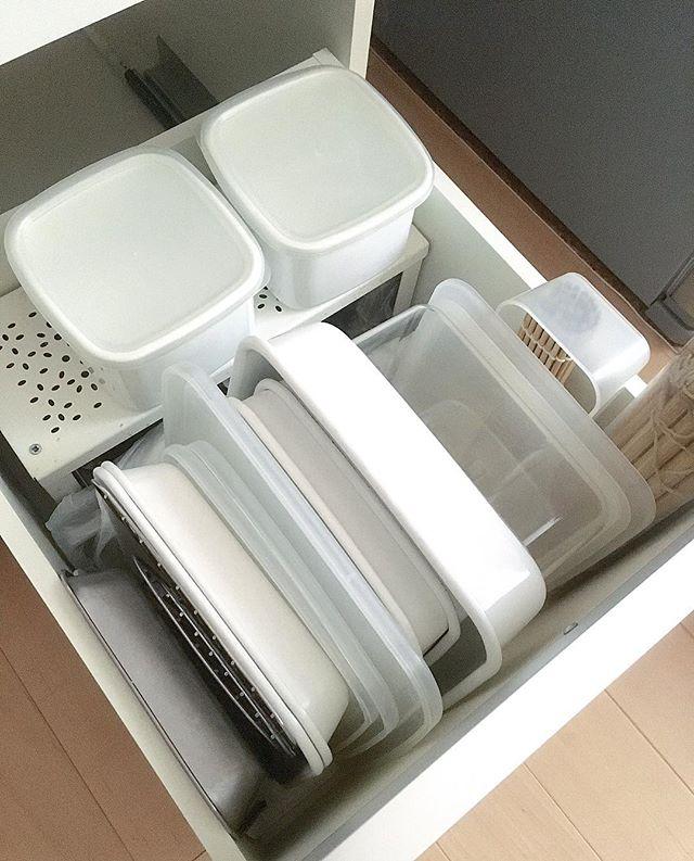 保存容器収納 タッパー キッチン引き出し7