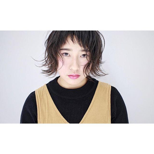 くせ毛のパーマ風アレンジ①ショートヘア5