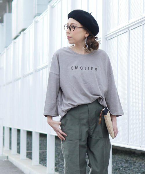 [reca] ゆったりシルエット ロゴTシャツ -EMOTION-