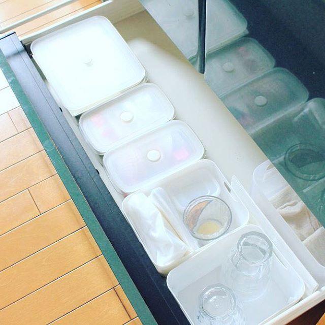 保存容器収納 タッパー キッチン ミニマリスト2
