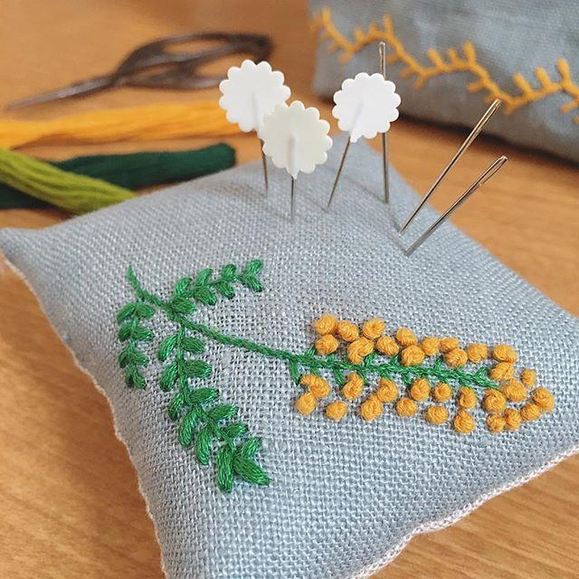 DIY・リメイク 針山 ピンクッション 刺繍