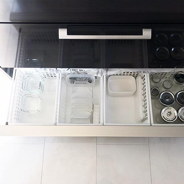 保存容器収納 タッパー キッチン引き出し6
