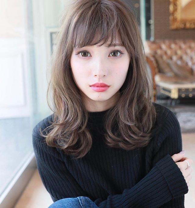 2019 モテる髪型 ひし形ミディアム