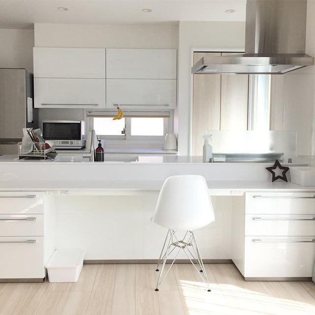ホワイトキッチン モダン2