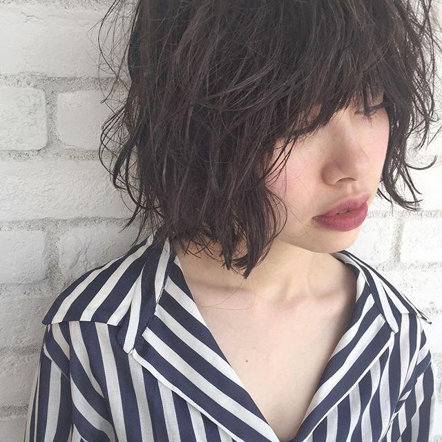 黒髪 ショートボブ ベース8