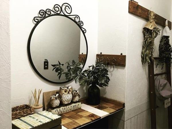 鏡を玄関に飾ってみる3