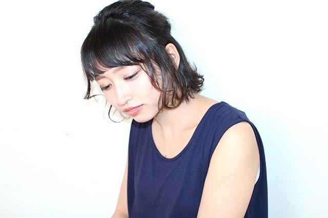 黒髪 ショートボブ アレンジ