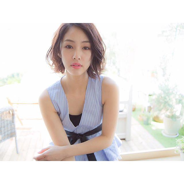 くせ毛のパーマ風アレンジ①ショートヘア10
