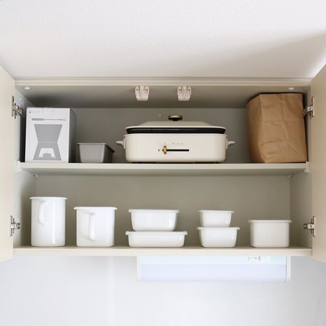 保存容器収納 タッパー キッチン吊り戸棚2