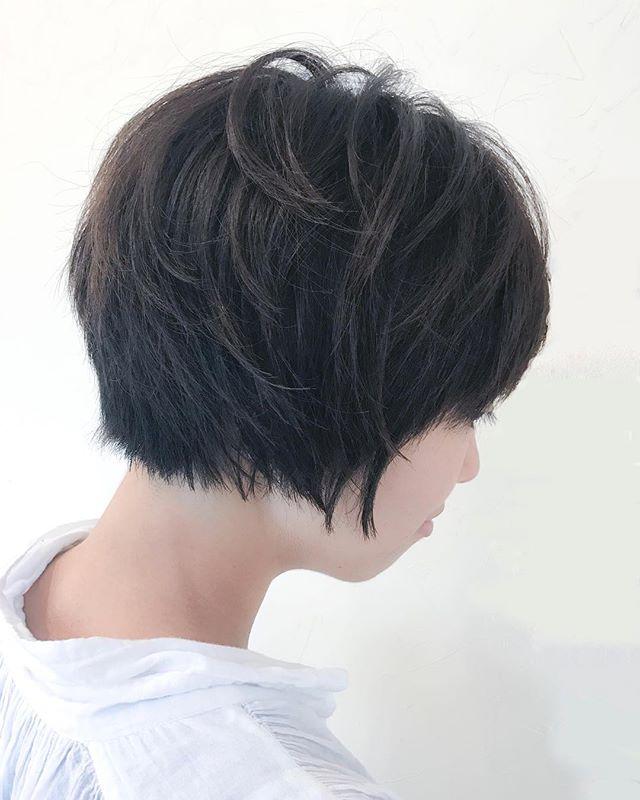 前髪長めのメリハリショート2