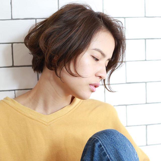 くせ毛のパーマ風アレンジ①ショートヘア9