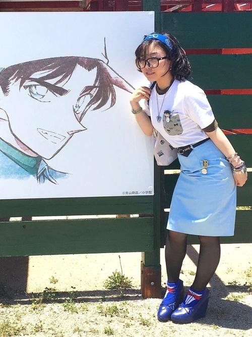 オタク女子定番の服装①キャラクターのTシャツ2