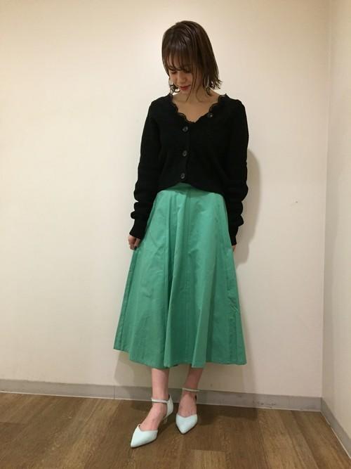グリーンスカートコーデ21