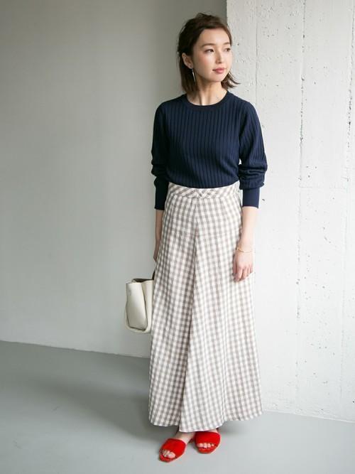 [URBAN RESEARCH] ギンガムチェックマーメイドスカート